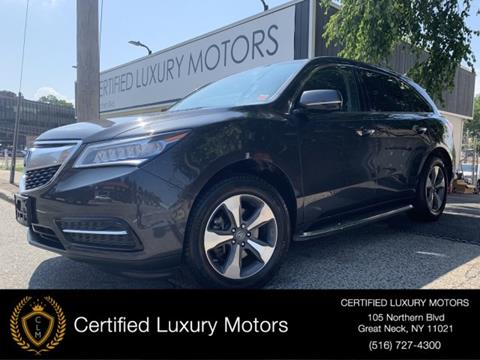 Acura Mdx For Sale >> 2016 Acura Mdx For Sale In Great Neck Ny