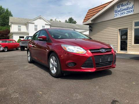 2014 Ford Focus for sale at J2 WHEELS UNLIMITED in Griggsville IL