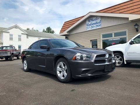 2013 Dodge Charger for sale at J2 WHEELS UNLIMITED in Griggsville IL