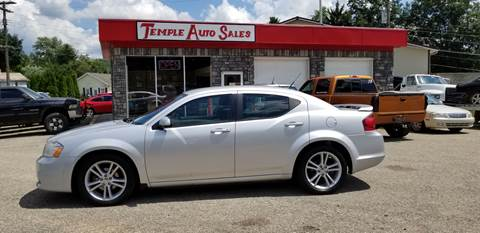2011 Dodge Avenger for sale at TEMPLE AUTO SALES in Zanesville OH