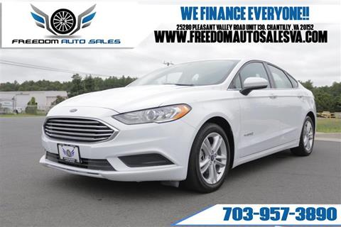 2018 Ford Fusion Hybrid for sale at Freedom Auto Sales in Chantilly VA