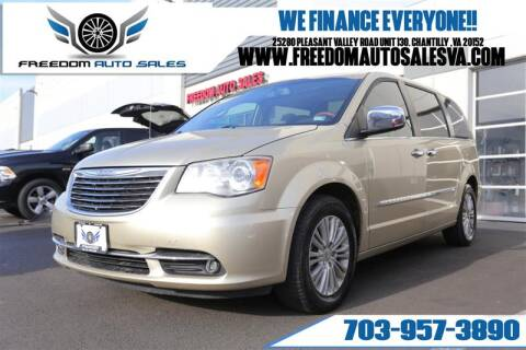 2012 Chrysler Town and Country for sale at Freedom Auto Sales in Chantilly VA