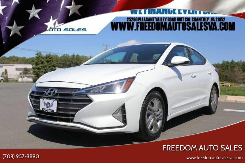 2019 Hyundai Elantra for sale at Freedom Auto Sales in Chantilly VA