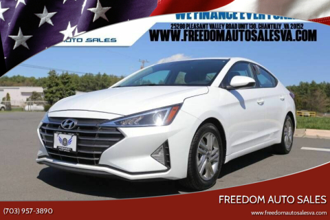 2019 Hyundai Elantra for sale at Freedom Auto Sales in Chantilly VA