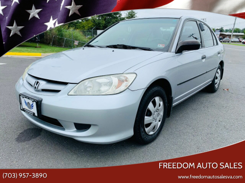2005 Honda Civic for sale at Freedom Auto Sales in Chantilly VA