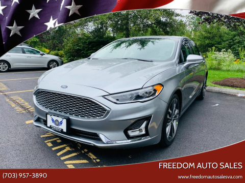 2020 Ford Fusion for sale at Freedom Auto Sales in Chantilly VA