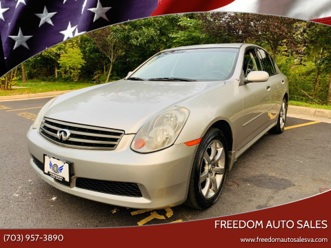 2005 Infiniti G35 for sale at Freedom Auto Sales in Chantilly VA
