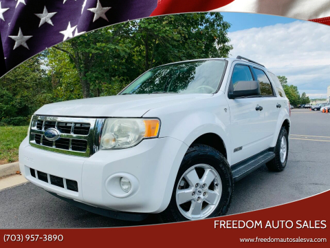 2008 Ford Escape for sale at Freedom Auto Sales in Chantilly VA