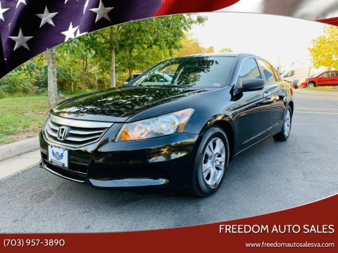 2012 Honda Accord for sale at Freedom Auto Sales in Chantilly VA