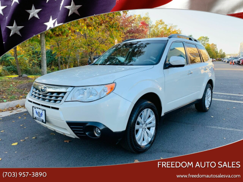 2012 Subaru Forester for sale at Freedom Auto Sales in Chantilly VA