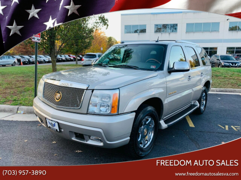 2004 Cadillac Escalade for sale at Freedom Auto Sales in Chantilly VA