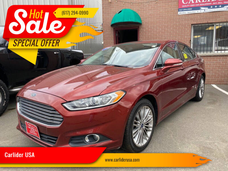 2014 Ford Fusion for sale at Carlider USA in Everett MA