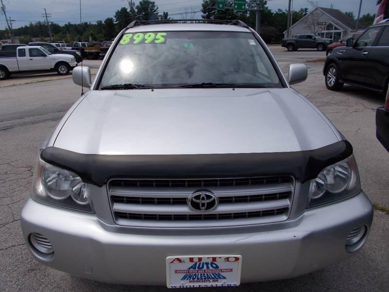 2002 Toyota Highlander for sale at Auto Wholesalers Of Hooksett in Hooksett NH