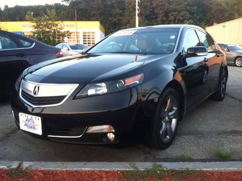 2012 Acura TL for sale at Auto Wholesalers Of Hooksett in Hooksett NH