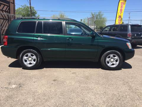2003 Toyota Highlander for sale at Used Car Showcase in Phoenix AZ