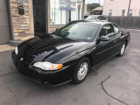 2000 Chevrolet Monte Carlo for sale in Scranton, PA