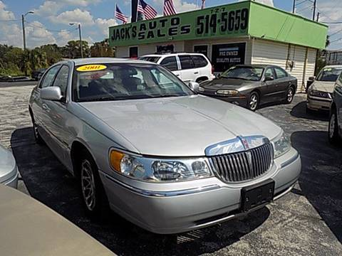 2001 Lincoln Town Car For Sale At Jacku0027s Auto Sales In Port Richey FL