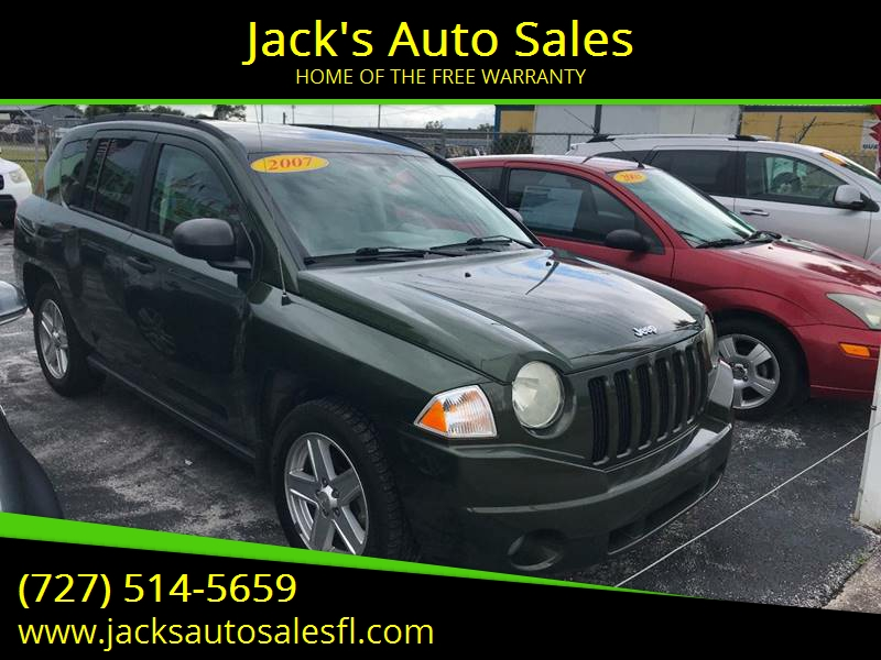 2007 Jeep Compass For Sale At Jacku0027s Auto Sales In Port Richey FL