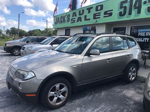 2007 BMW X3 3.0si for sale at Jack's Auto Sales in Port Richey FL