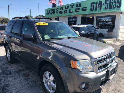 2010 Ford Escape XLT for sale at Jack's Auto Sales in Port Richey FL