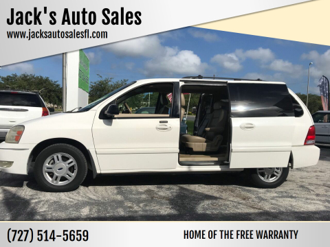 2004 Ford Freestar for sale at Jack's Auto Sales in Port Richey FL