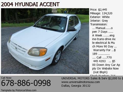 2004 Hyundai Accent for sale in Dallas, GA