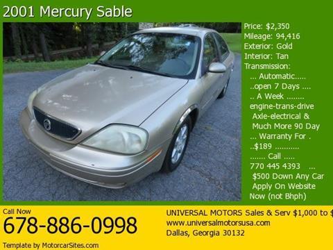 2001 Mercury Sable for sale in Dallas, GA