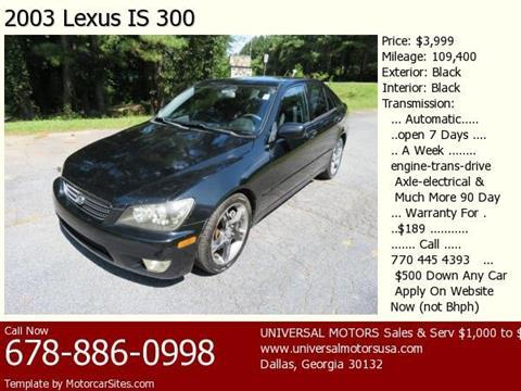 2003 Lexus IS 300 for sale in Dallas, GA