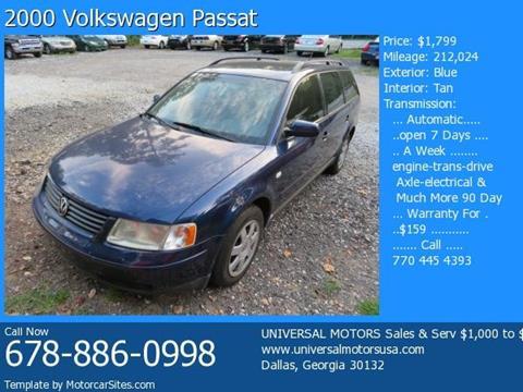 2000 Volkswagen Passat for sale in Dallas, GA