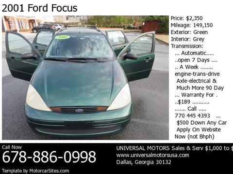 2001 Ford Focus for sale in Dallas, GA