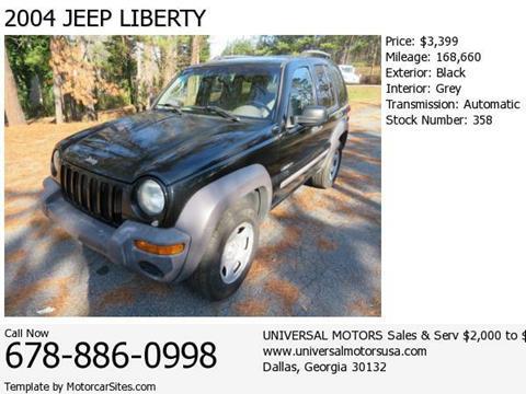 2004 Jeep Liberty for sale in Dallas, GA
