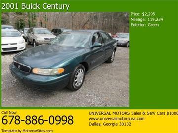 2001 Buick Century for sale in Dallas, GA