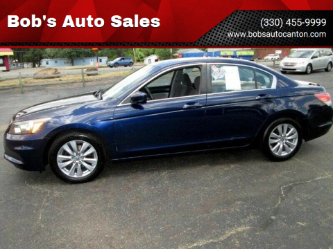 2011 Honda Accord for sale at Bob's Auto Sales in Canton OH