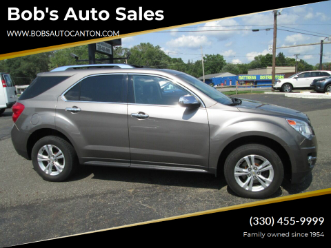 2012 Chevrolet Equinox for sale at Bob's Auto Sales in Canton OH