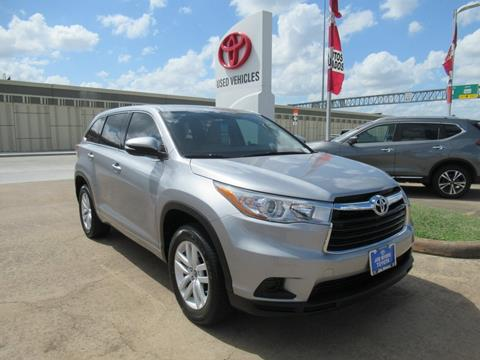 2016 Toyota Highlander for sale in Houston, TX