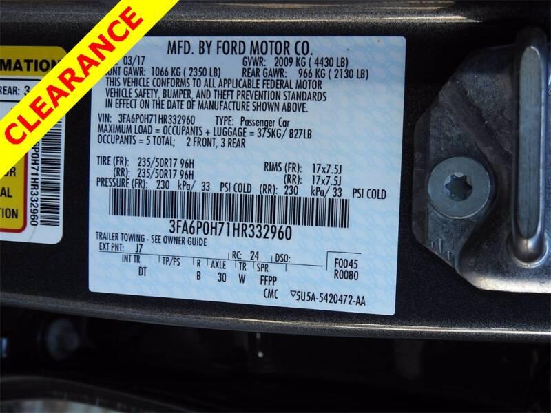 2017 Ford Fusion SE 4dr Sedan - Houston TX