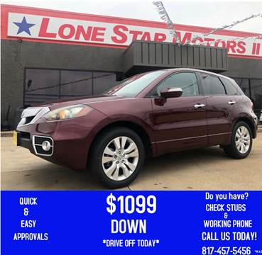 2011 Acura RDX for sale at LONE STAR MOTORS II in Fort Worth TX