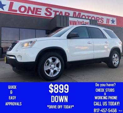2010 GMC Acadia for sale in Fort Worth, TX