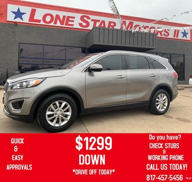 2016 Kia Sorento for sale at LONE STAR MOTORS II in Fort Worth TX