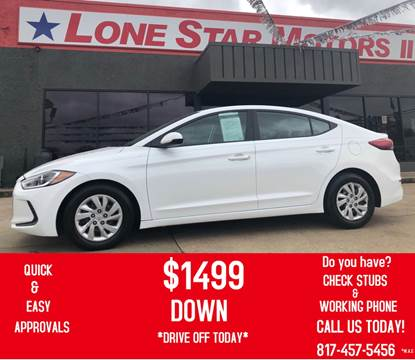 2017 Hyundai Elantra for sale at LONE STAR MOTORS II in Fort Worth TX