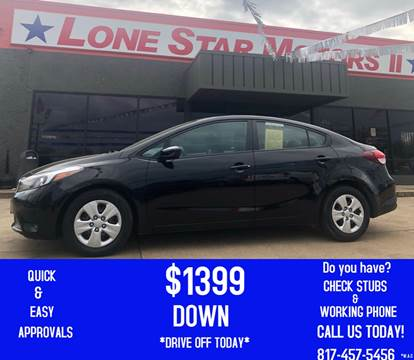 2017 Kia Forte for sale at LONE STAR MOTORS II in Fort Worth TX
