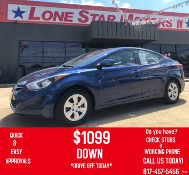 2016 Hyundai Elantra for sale at LONE STAR MOTORS II in Fort Worth TX