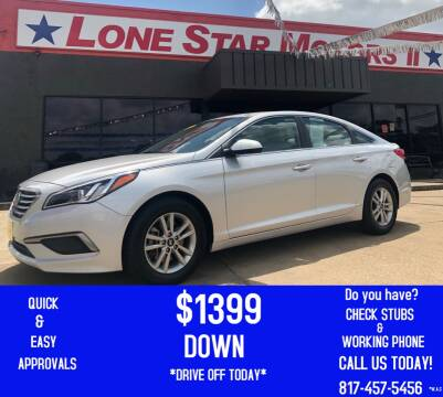 2016 Hyundai Sonata for sale at LONE STAR MOTORS II in Fort Worth TX