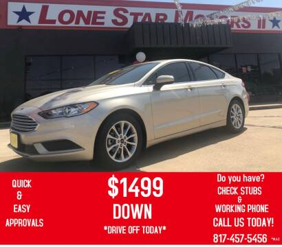 2017 Ford Fusion for sale at LONE STAR MOTORS II in Fort Worth TX