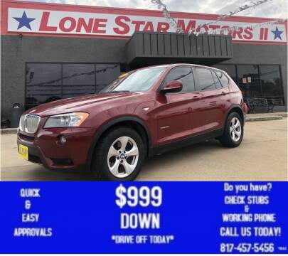 2011 BMW X3 for sale at LONE STAR MOTORS II in Fort Worth TX