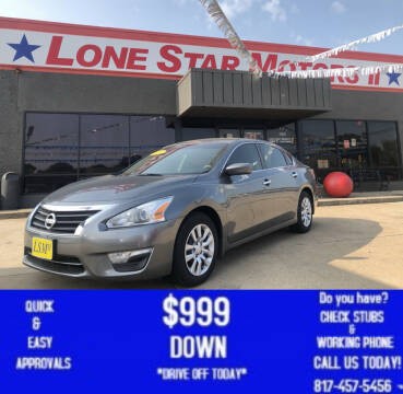 2014 Nissan Altima for sale at LONE STAR MOTORS II in Fort Worth TX