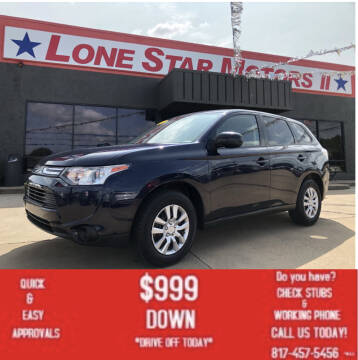 2014 Mitsubishi Outlander for sale at LONE STAR MOTORS II in Fort Worth TX
