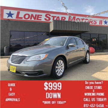 2012 Chrysler 200 for sale at LONE STAR MOTORS II in Fort Worth TX
