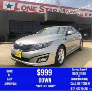 2014 Kia Optima for sale at LONE STAR MOTORS II in Fort Worth TX
