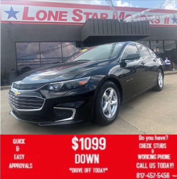 2017 Chevrolet Malibu for sale at LONE STAR MOTORS II in Fort Worth TX